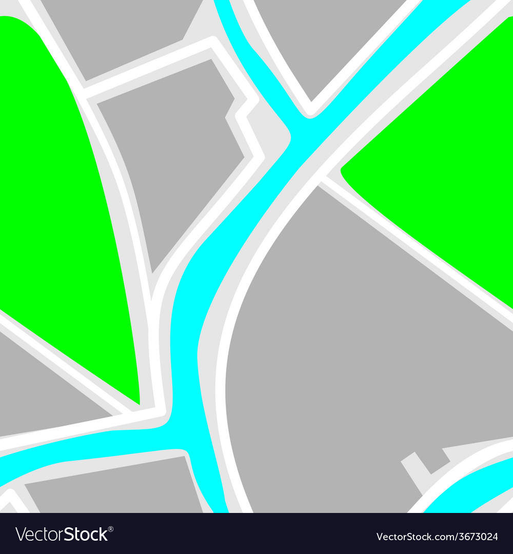 Map - seamless pattern green park blue river white vector | Price: 1 Credit (USD $1)