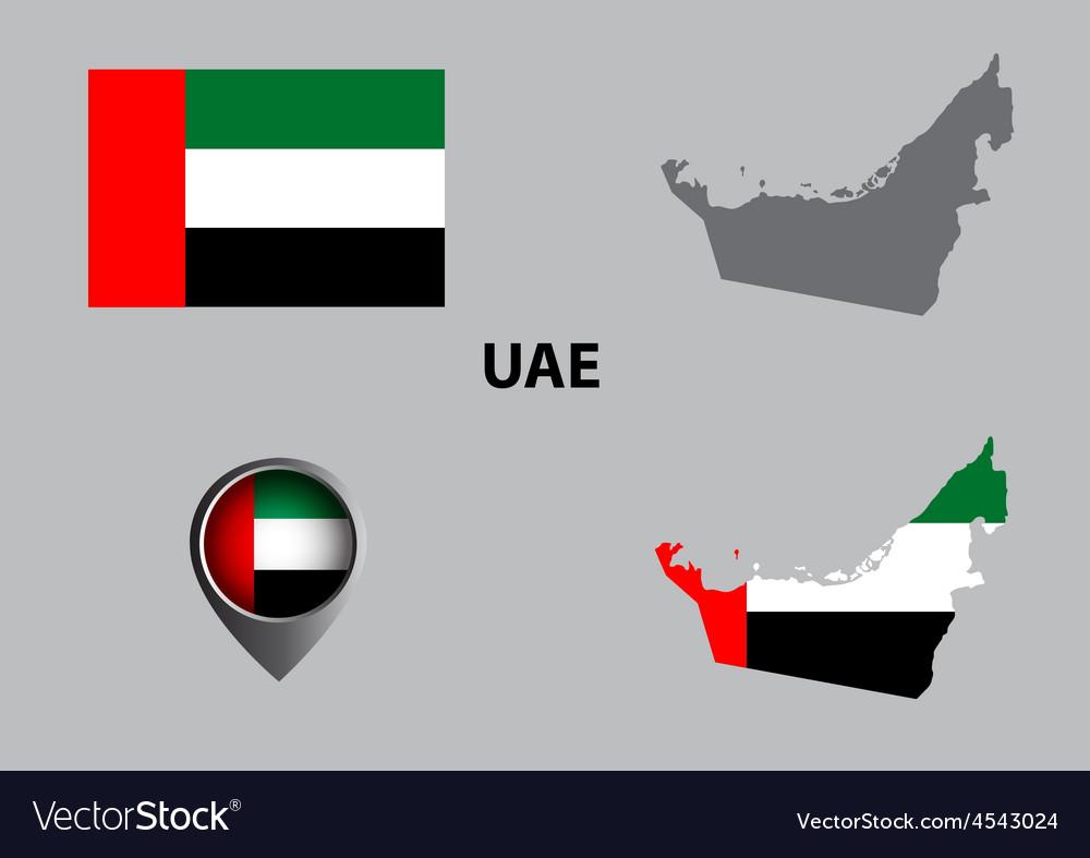 Map of united arab emirates and symbol vector   Price: 1 Credit (USD $1)