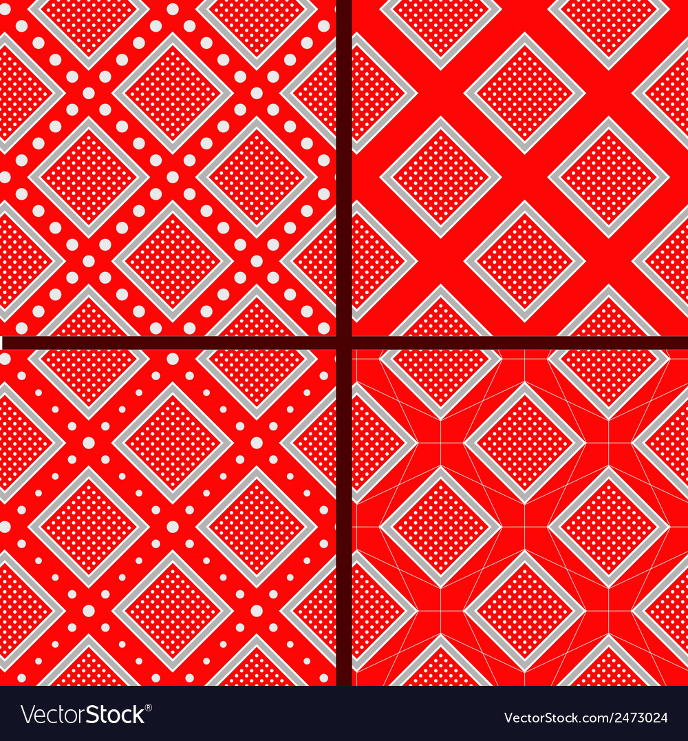Red rhombuses with polka dot vector   Price: 1 Credit (USD $1)