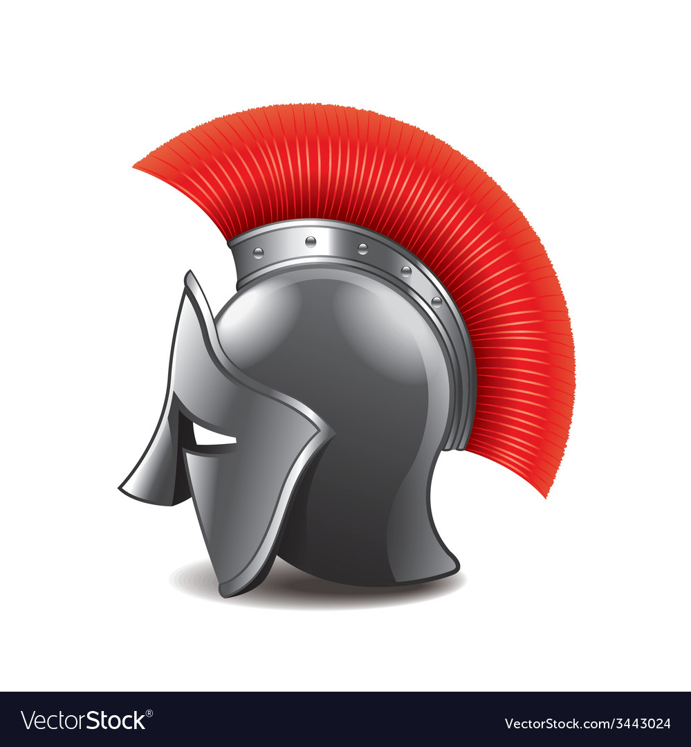 Roman helmet isolated vector | Price: 1 Credit (USD $1)