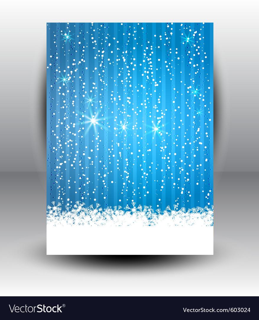Snowflake background vector | Price: 1 Credit (USD $1)