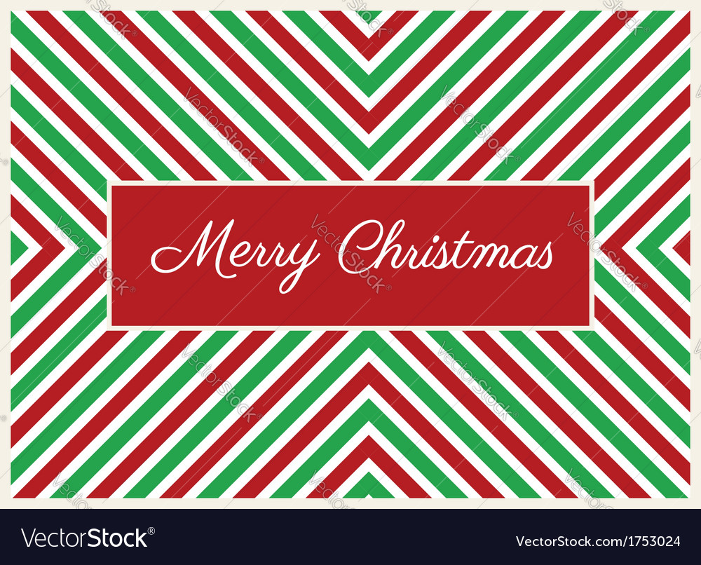 Striped christmas card vector | Price: 1 Credit (USD $1)