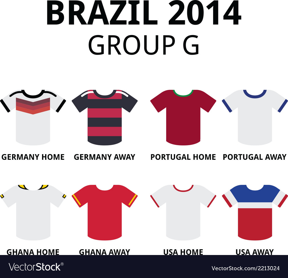 World cup brazil 2014 - group f teams jerseys vector | Price: 1 Credit (USD $1)