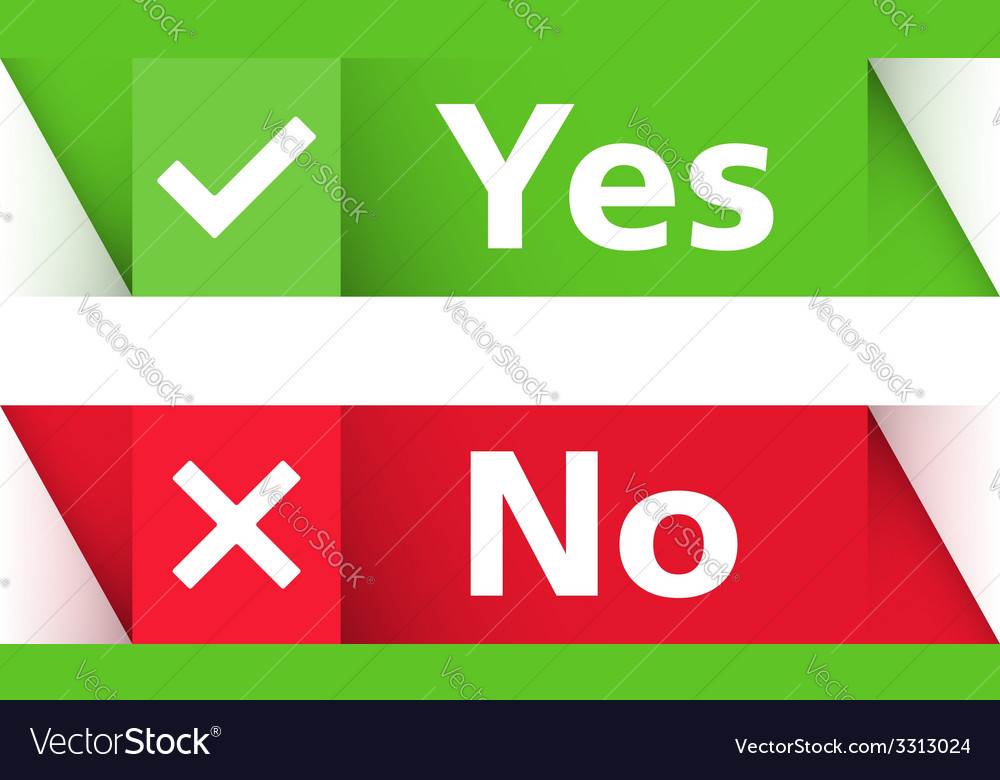 Yes and no banners vector | Price: 1 Credit (USD $1)