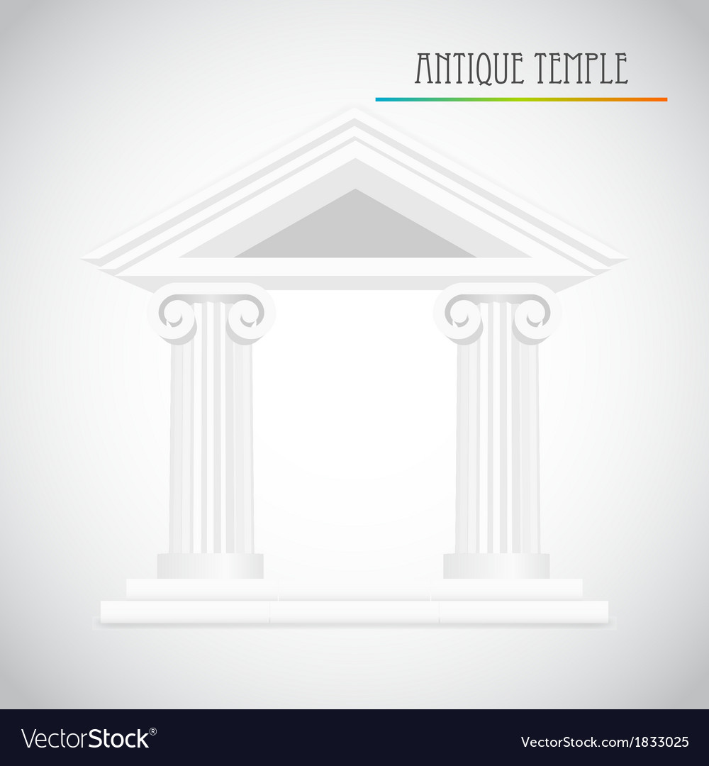 Ancient columns vector | Price: 1 Credit (USD $1)