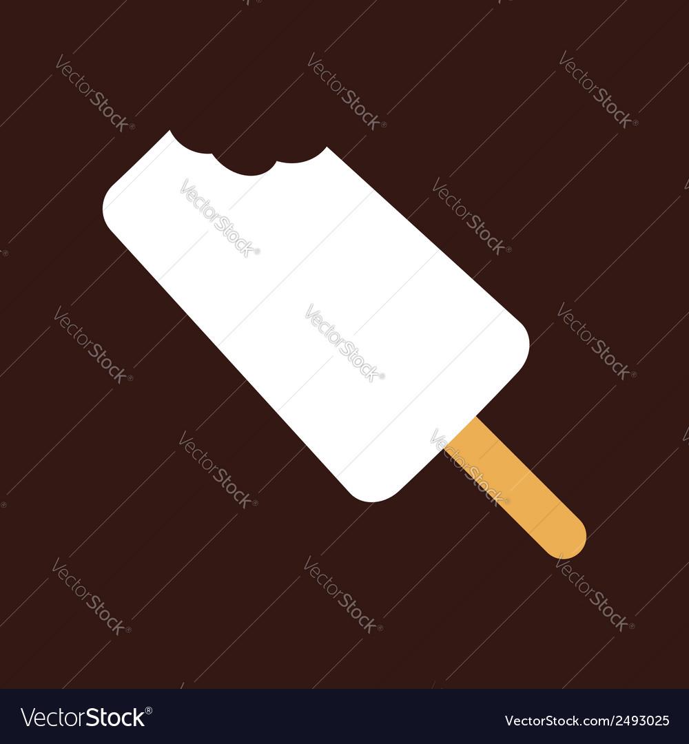 Bitten ice-cream vector | Price: 1 Credit (USD $1)