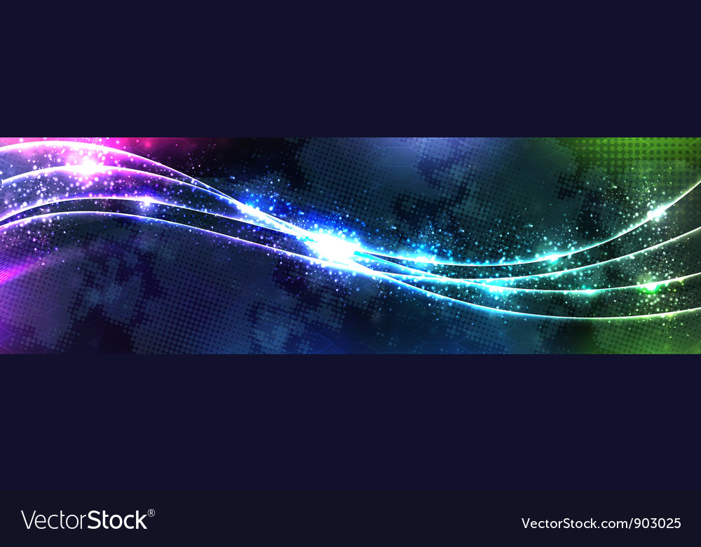 Blue neon wave vector | Price: 1 Credit (USD $1)