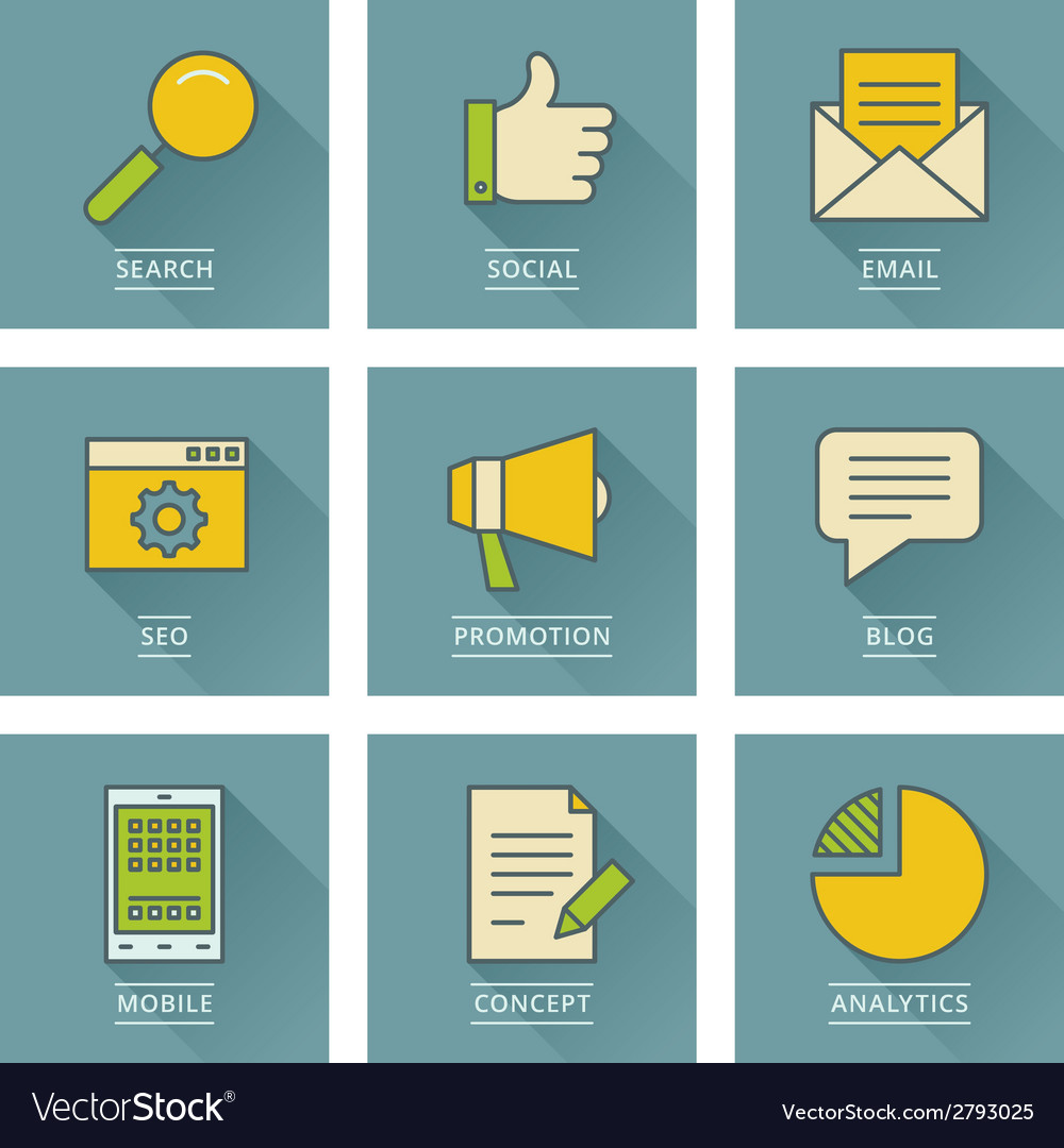 Business infographics icons social media concept vector | Price: 1 Credit (USD $1)