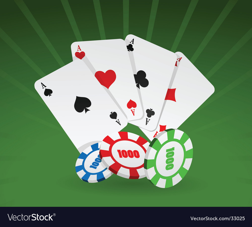 Cards and chips vector | Price: 1 Credit (USD $1)