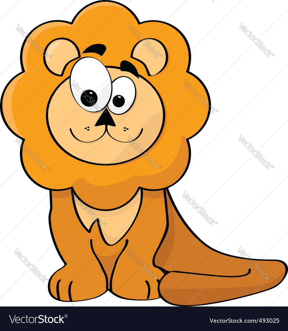Cartoon lion vector | Price: 1 Credit (USD $1)
