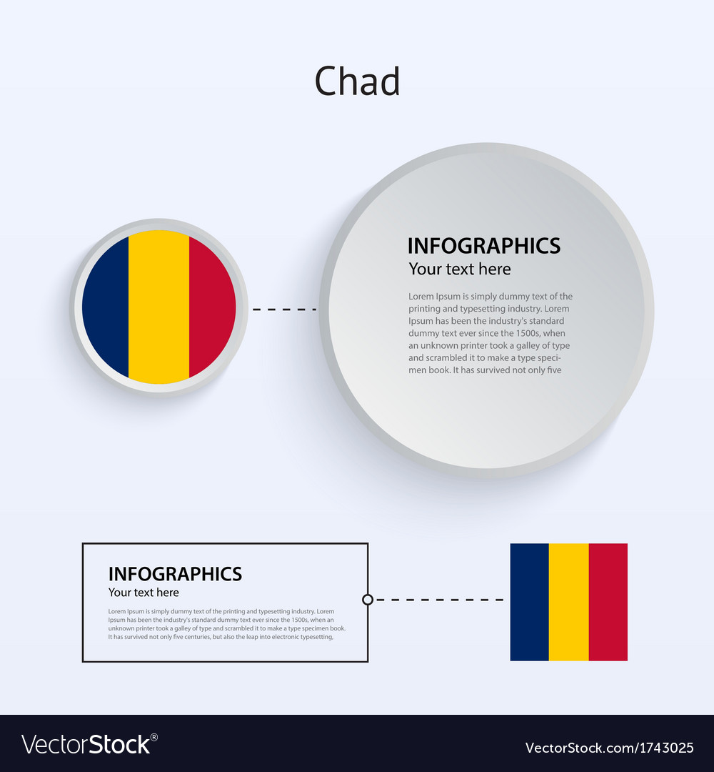 Chad country set of banners vector | Price: 1 Credit (USD $1)
