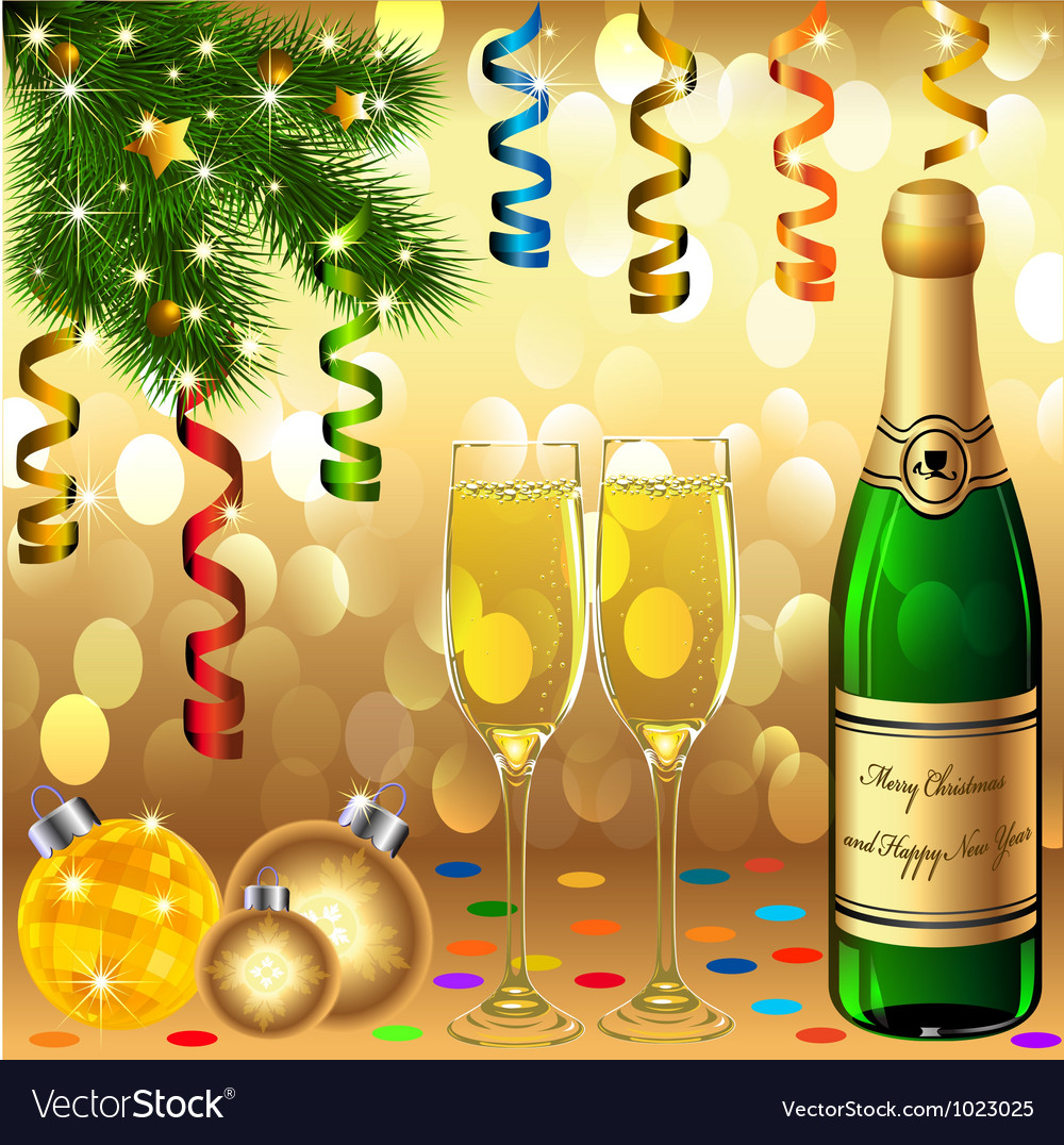 Christmas new years party vector | Price: 1 Credit (USD $1)