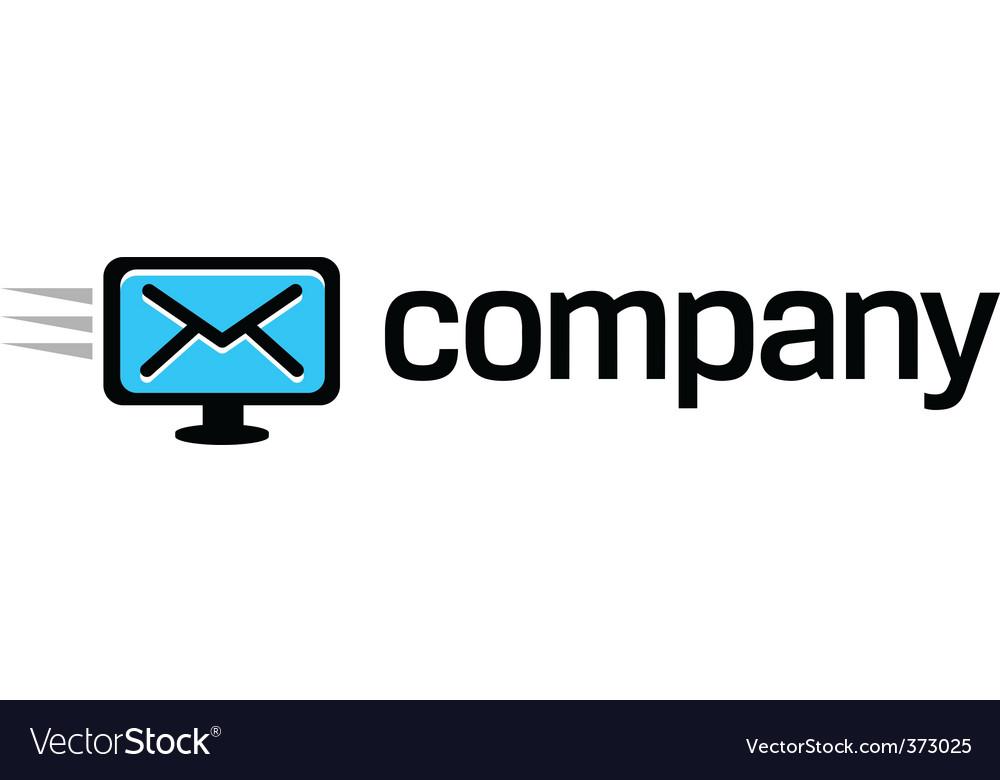 Digital computer message logo vector | Price: 1 Credit (USD $1)