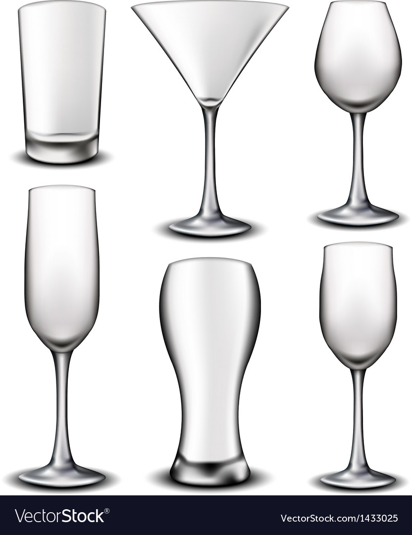Empty glass set vector | Price: 1 Credit (USD $1)