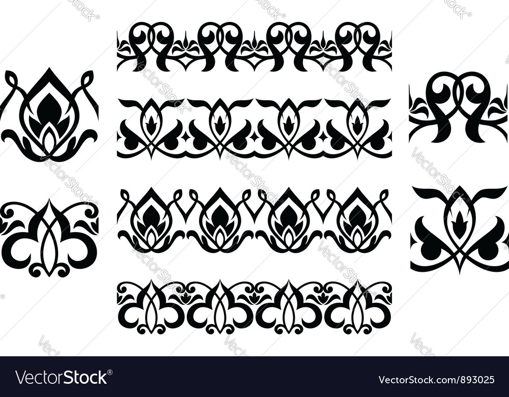 Floral embellishments and ornaments vector | Price: 1 Credit (USD $1)
