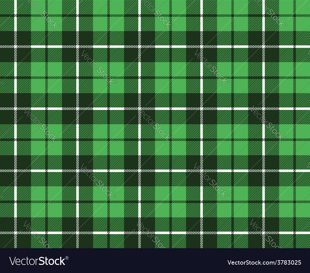 Green tartan fabric texture pattern seamless vector | Price: 1 Credit (USD $1)
