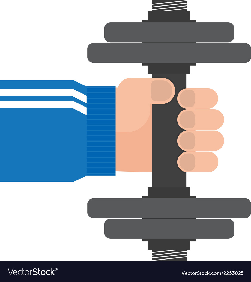 Hand and dumbbell vector | Price: 1 Credit (USD $1)