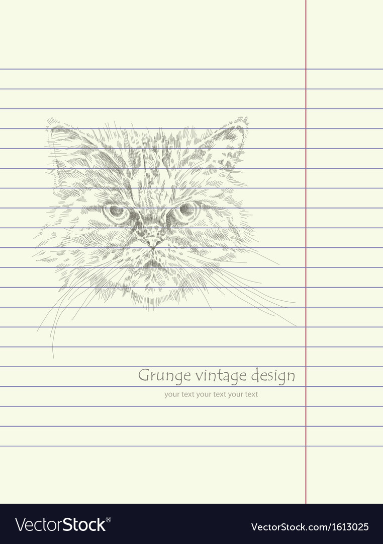 Hand drawing sketch cat vector | Price: 1 Credit (USD $1)