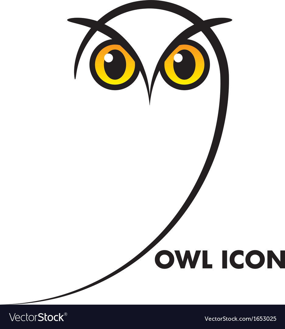Owl icon vector | Price: 1 Credit (USD $1)