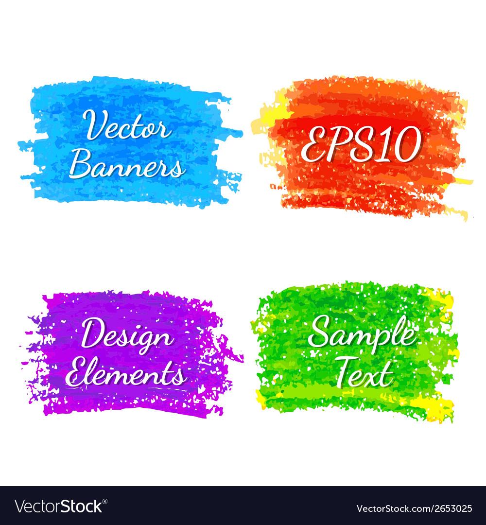 Strokes of colored pencils vector | Price: 1 Credit (USD $1)