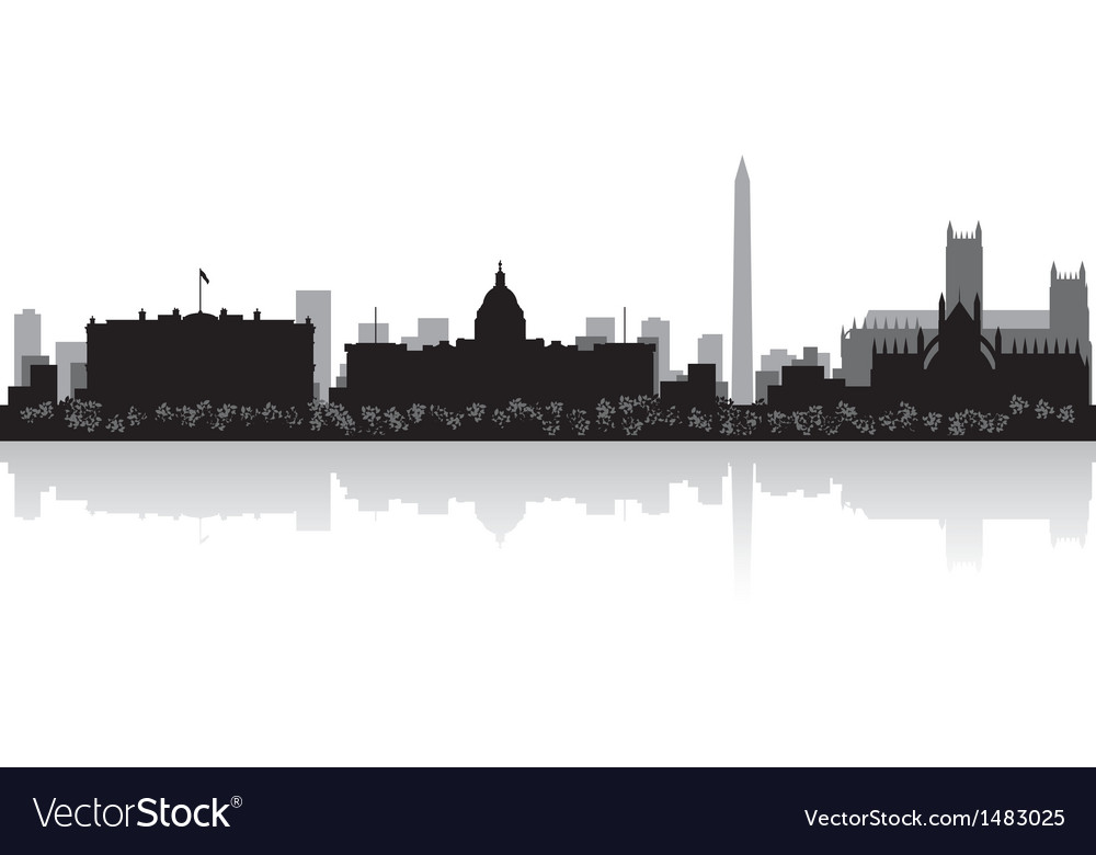 Washington usa city skyline silhouette vector   Price: 1 Credit (USD $1)