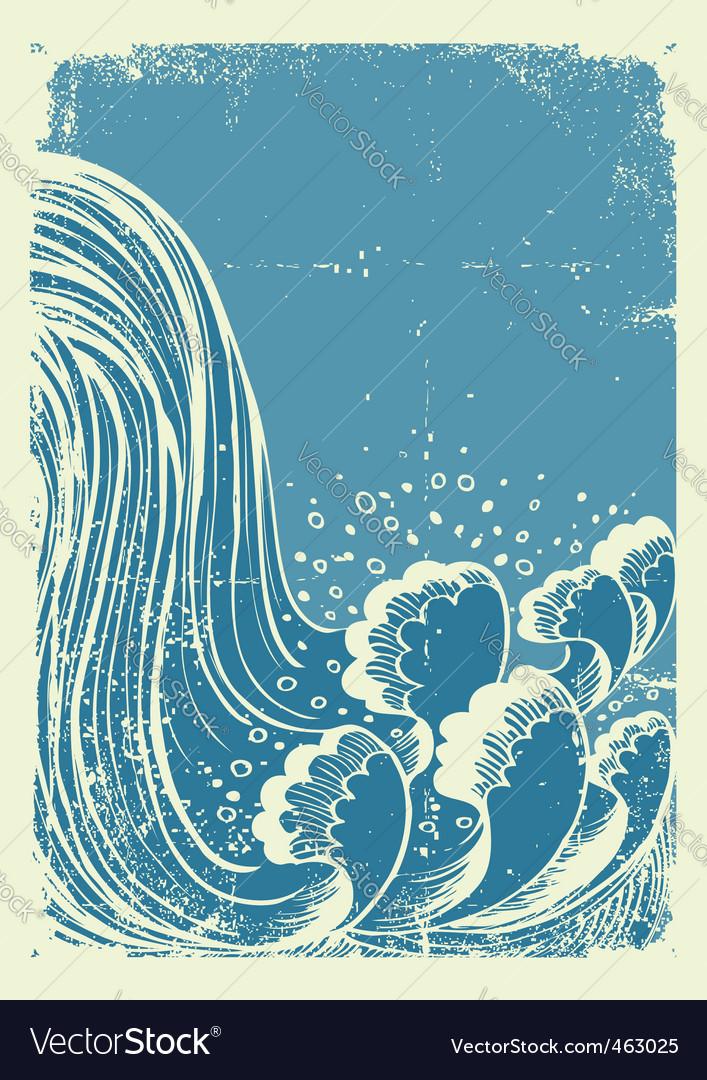 Waterfall grunge vector   Price: 1 Credit (USD $1)