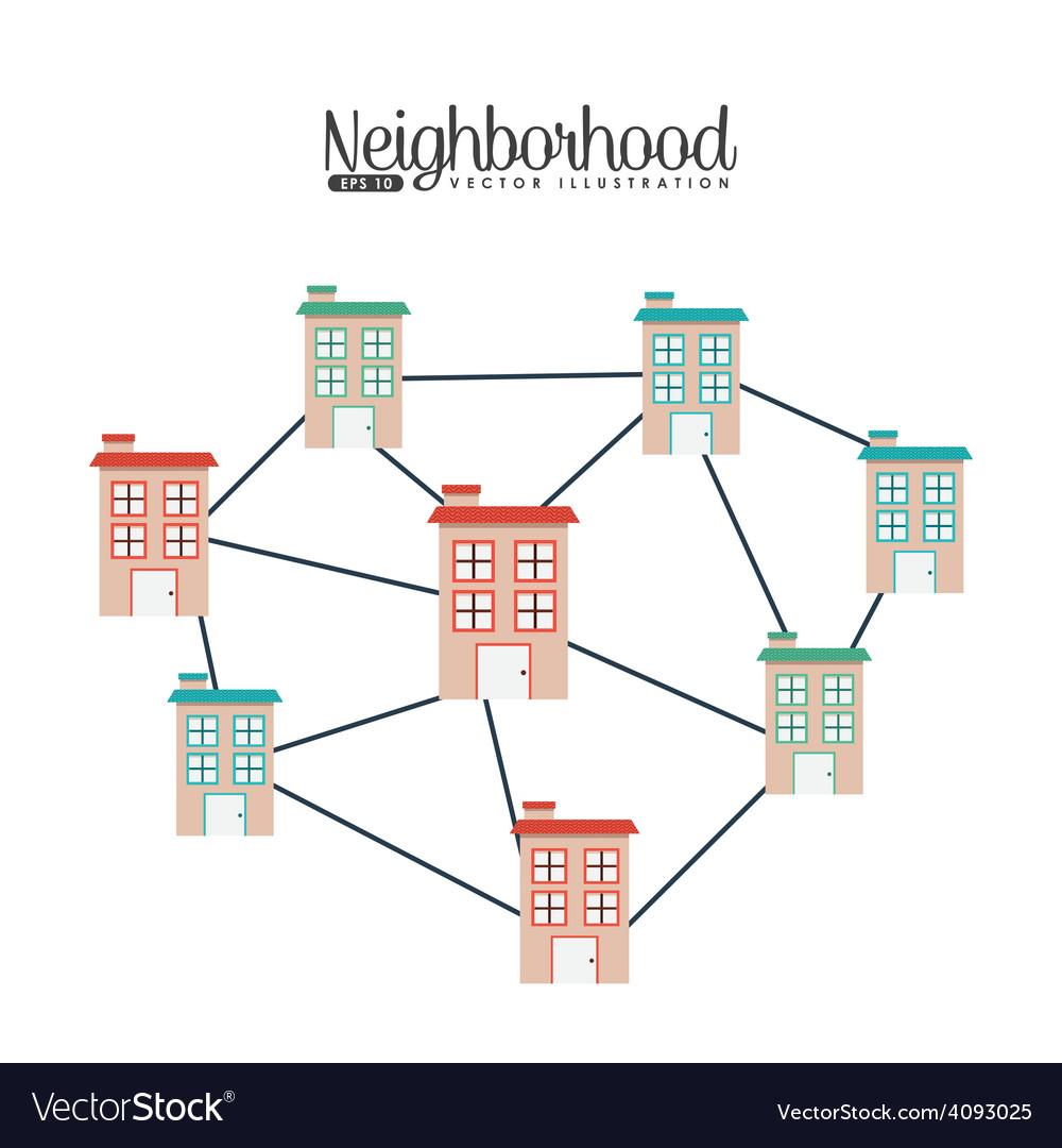 Welcome neighborhood vector | Price: 1 Credit (USD $1)
