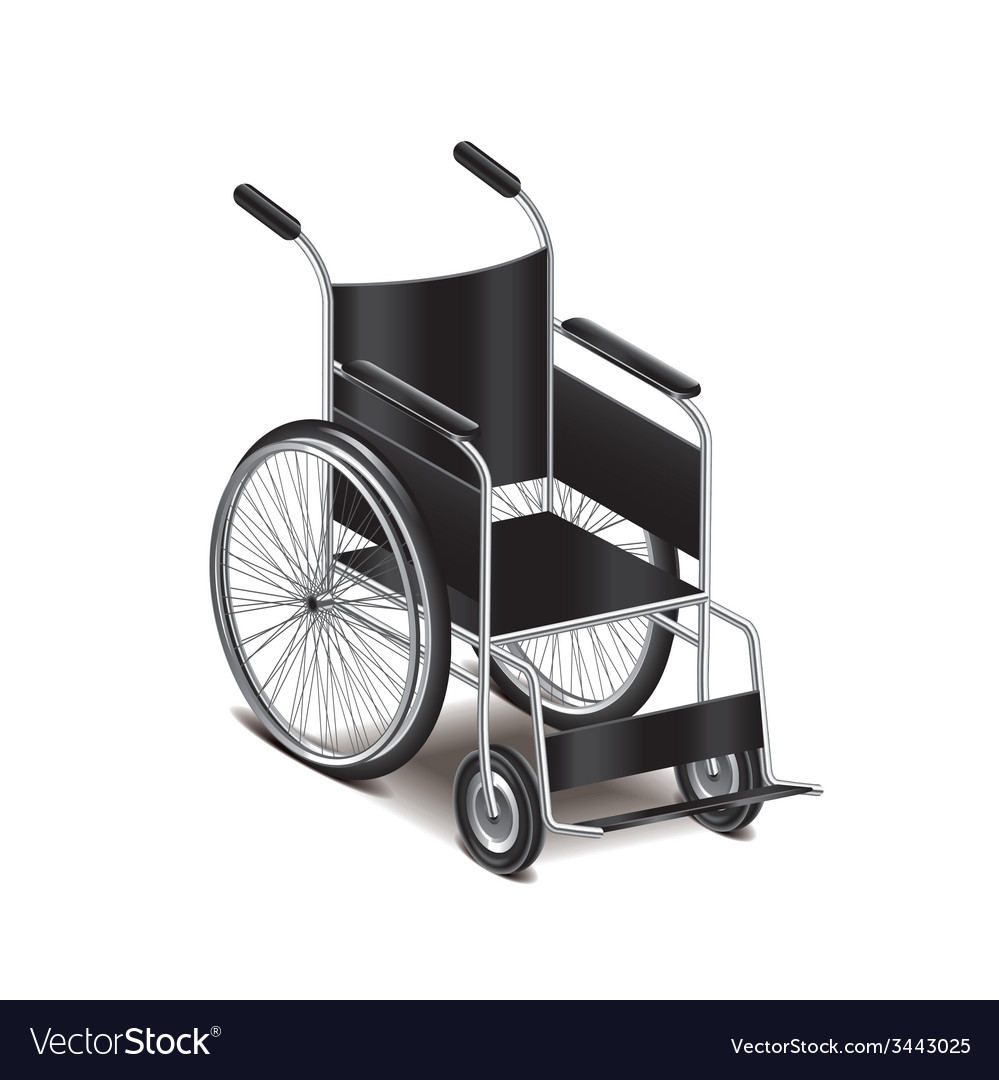 Wheelchair isolated vector | Price: 1 Credit (USD $1)