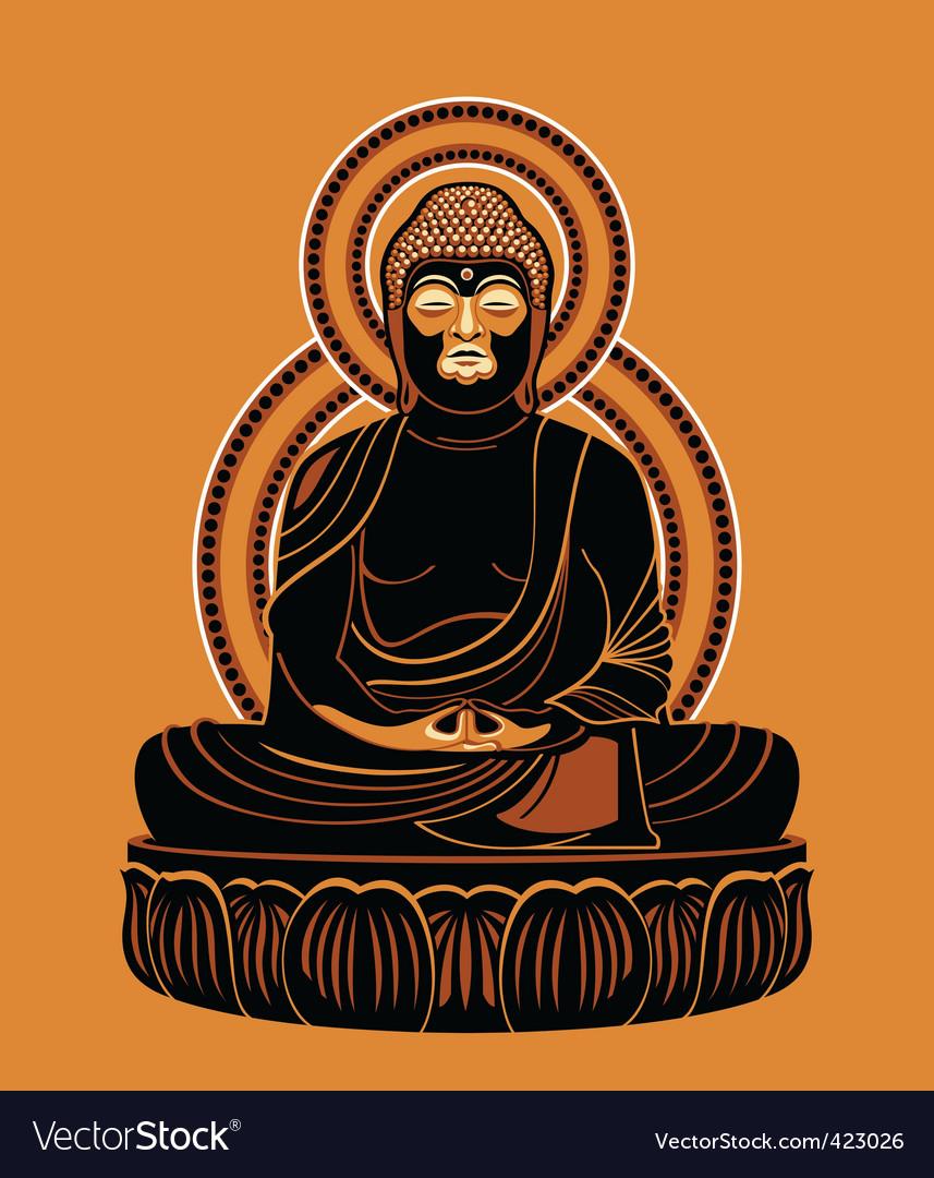 Buddha amitabh vector | Price: 3 Credit (USD $3)