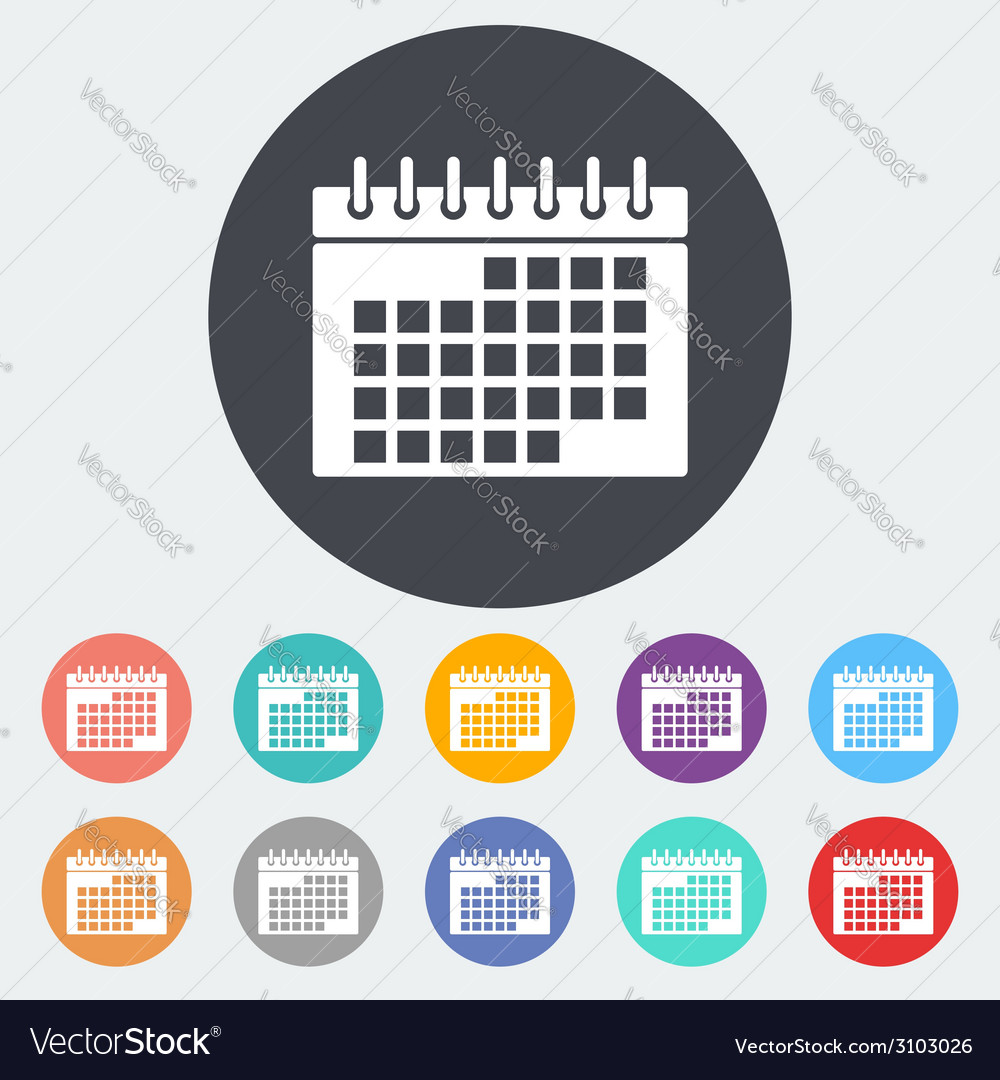 Calendar flat icon vector | Price: 1 Credit (USD $1)