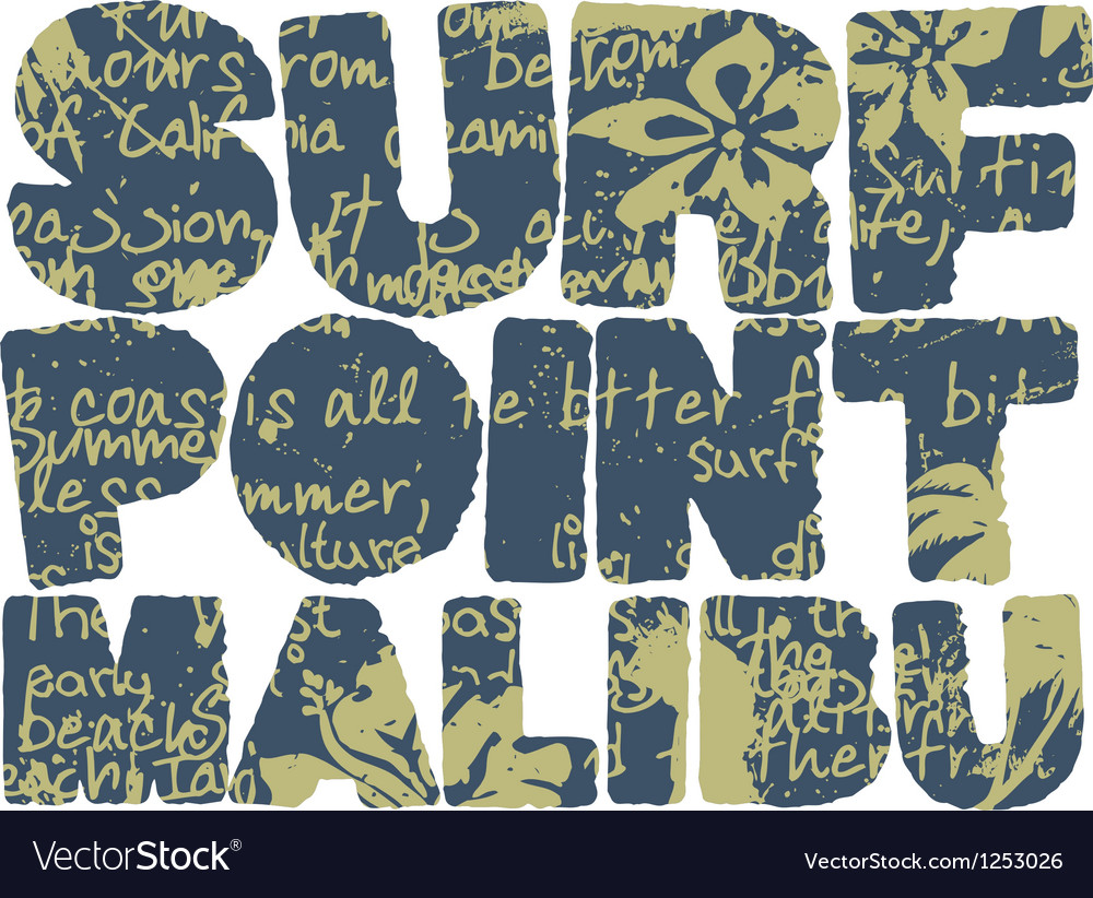 California surfing company vector | Price: 1 Credit (USD $1)