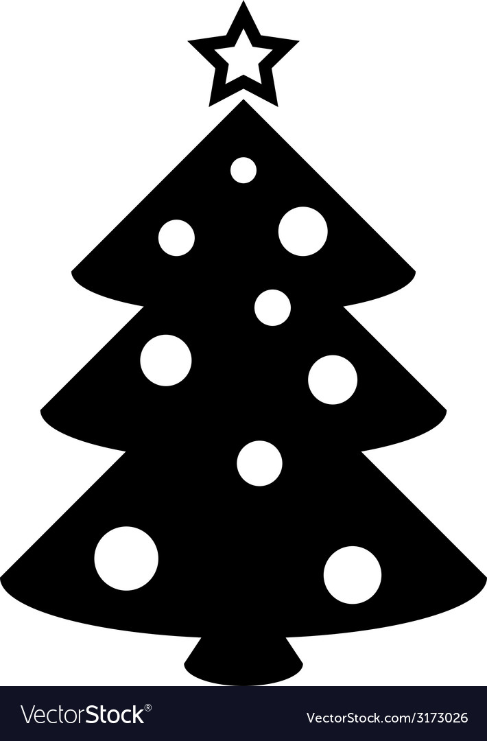 Christmas tree icon vector | Price: 1 Credit (USD $1)