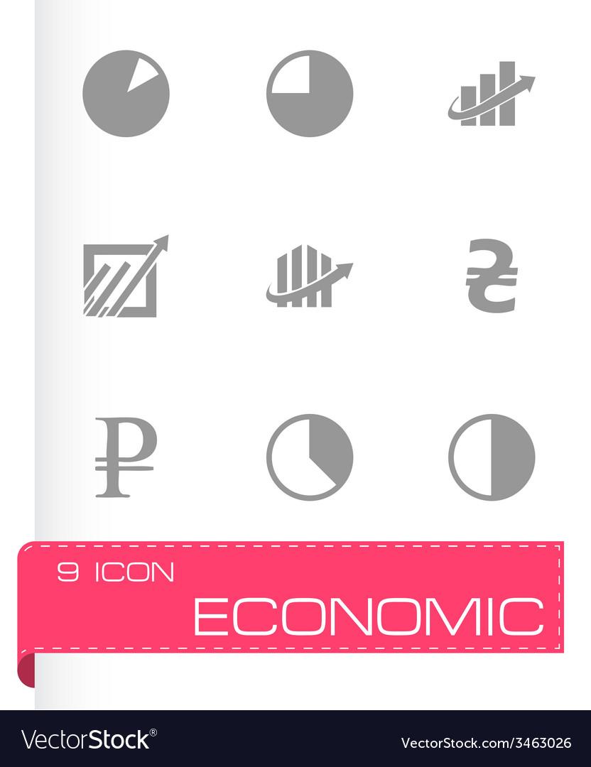 Economic icons set vector | Price: 1 Credit (USD $1)