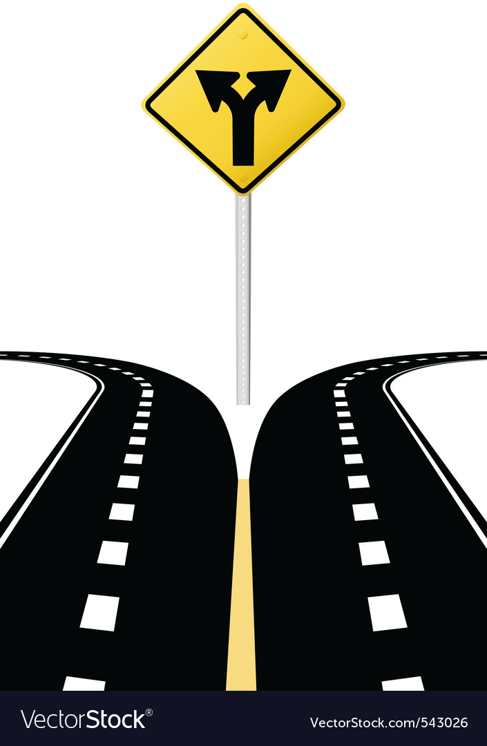 Highway road sign vector | Price: 1 Credit (USD $1)