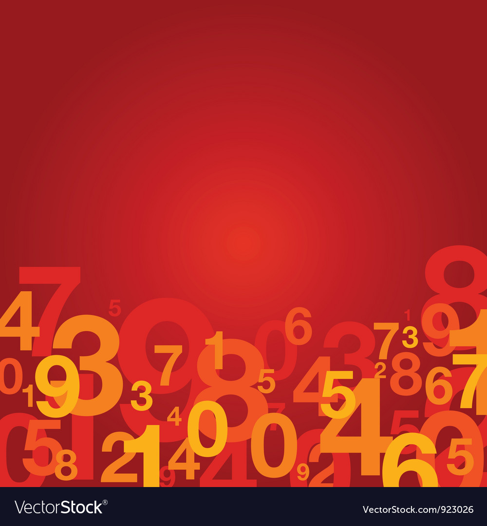 Number background red vector | Price: 1 Credit (USD $1)