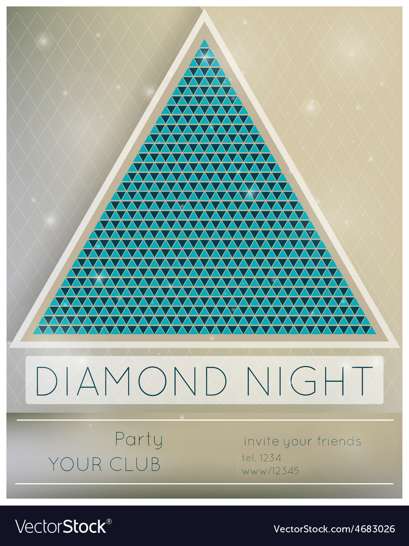 Party diamond night vector | Price: 3 Credit (USD $3)