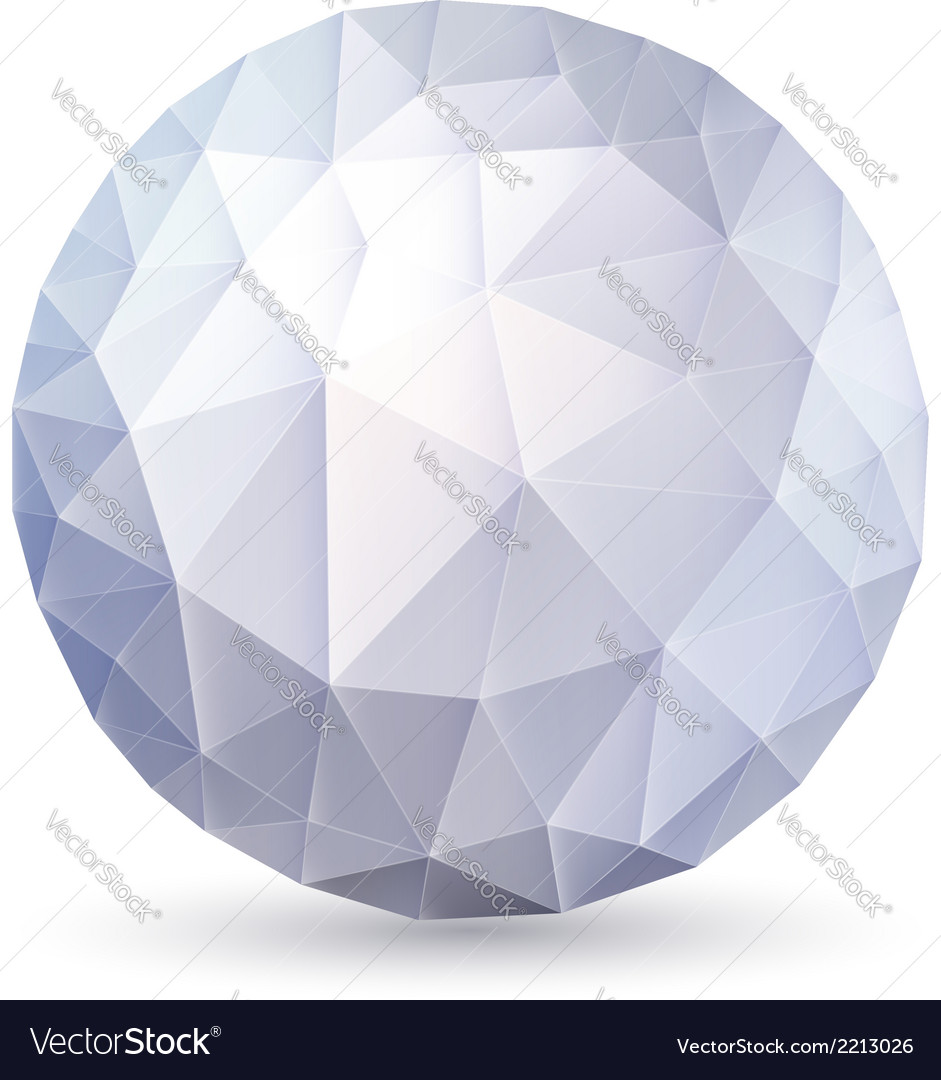 Polygonal sphere vector | Price: 1 Credit (USD $1)