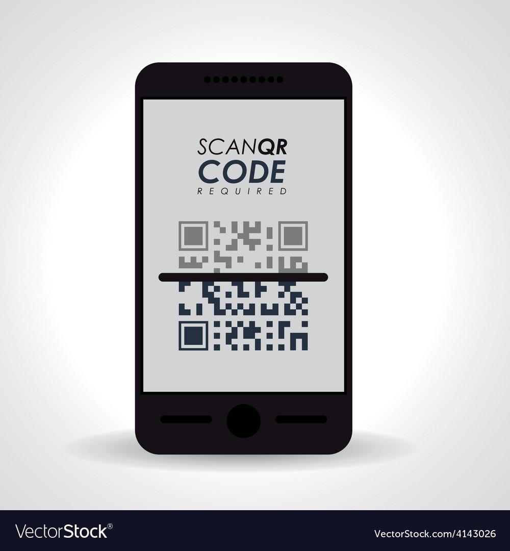 Scan qr code design vector | Price: 1 Credit (USD $1)