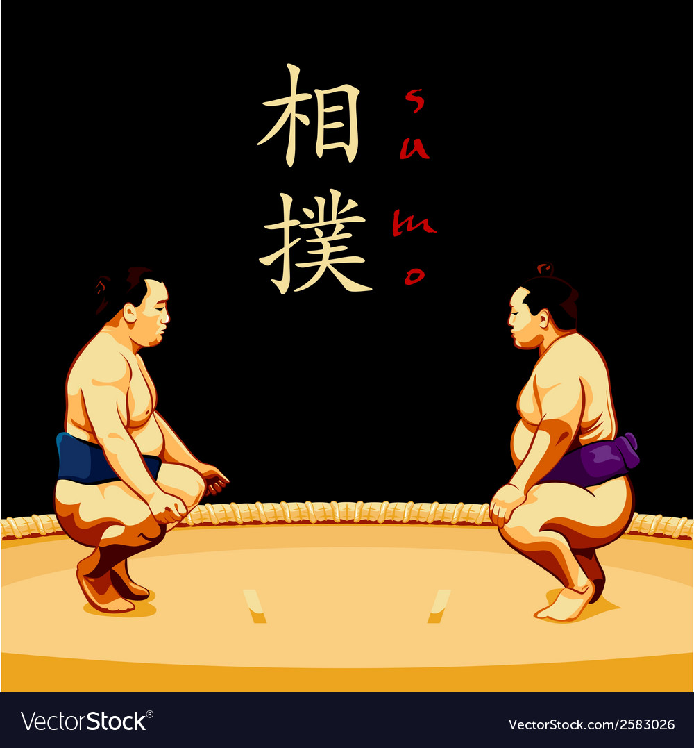 Sumo wrestlers vector | Price: 1 Credit (USD $1)