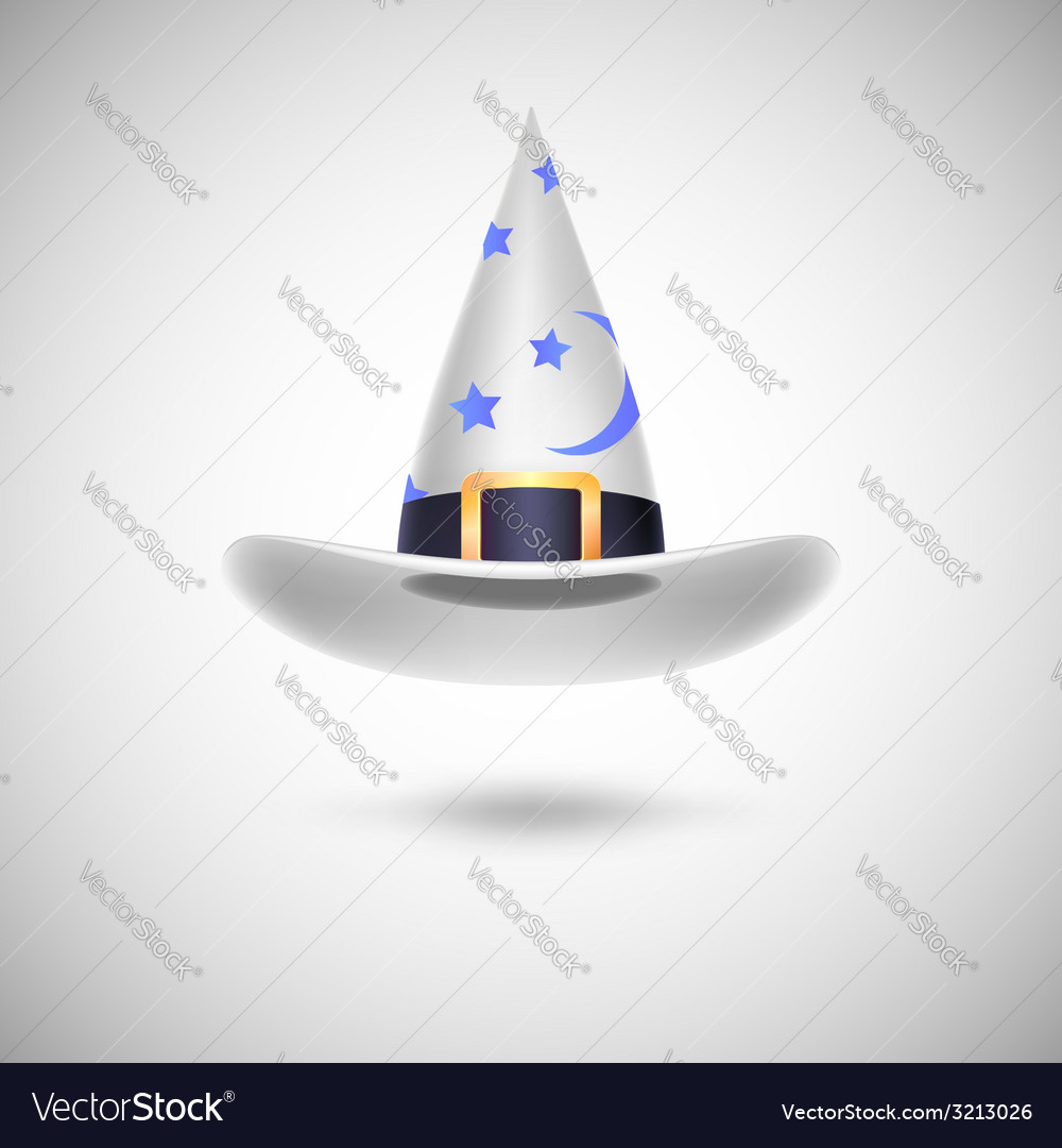 White witch hat for halloween vector | Price: 1 Credit (USD $1)