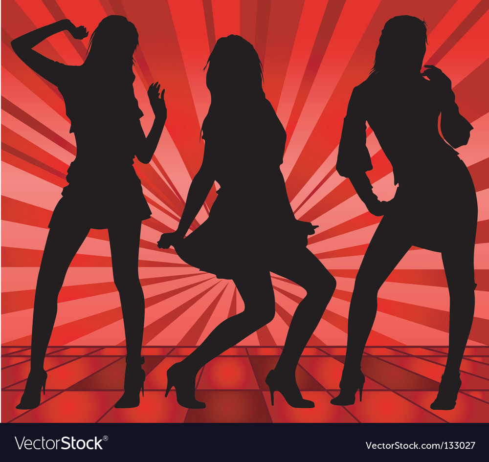 Dancing girls vector   Price: 1 Credit (USD $1)