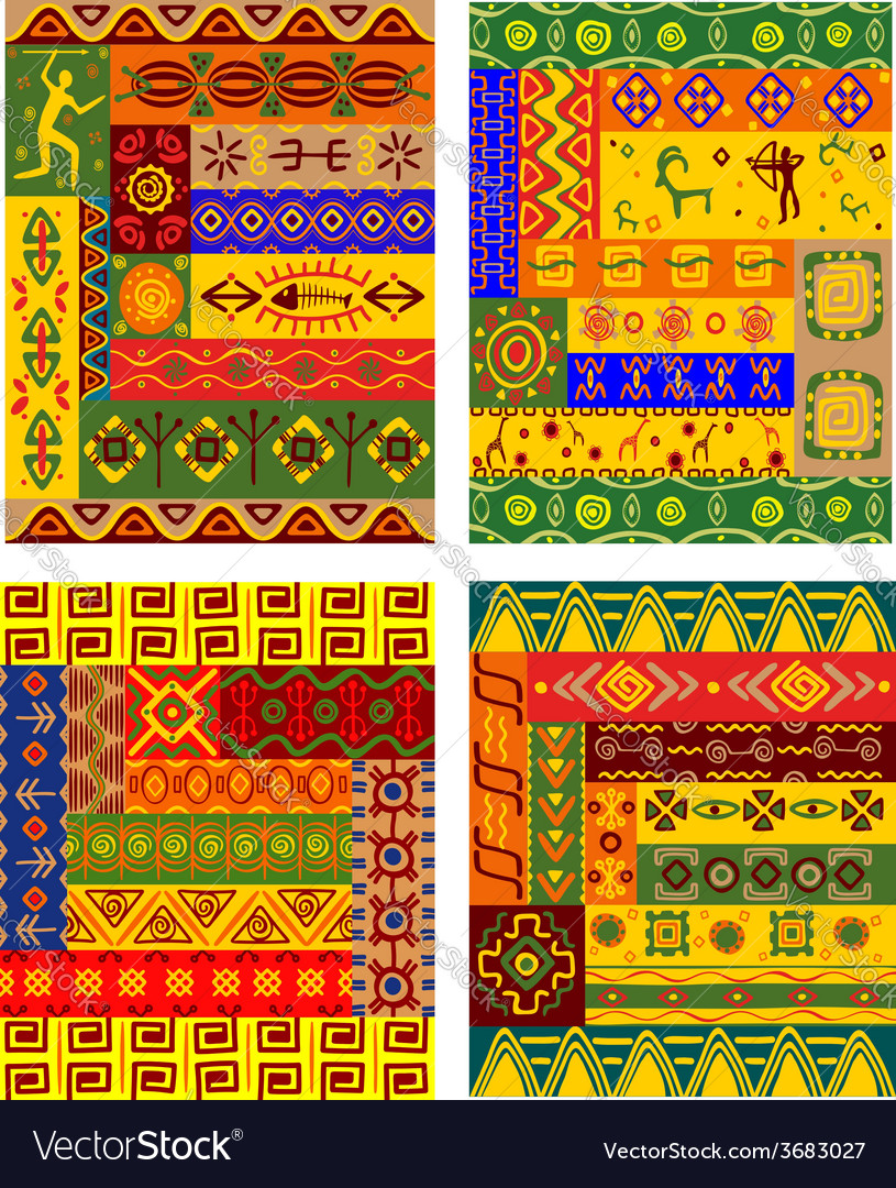 Ethnic abstract pattern in african style vector | Price: 1 Credit (USD $1)