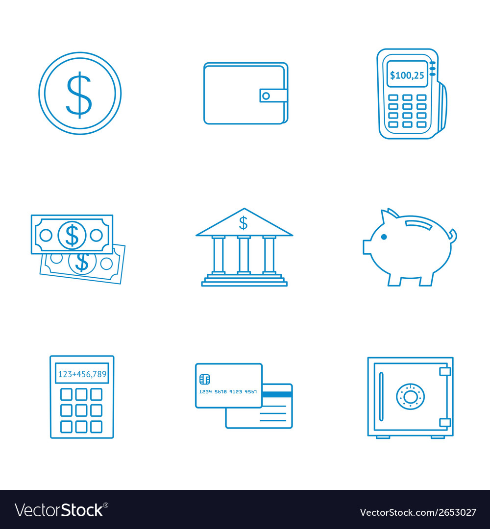 Finance icon vector | Price: 1 Credit (USD $1)