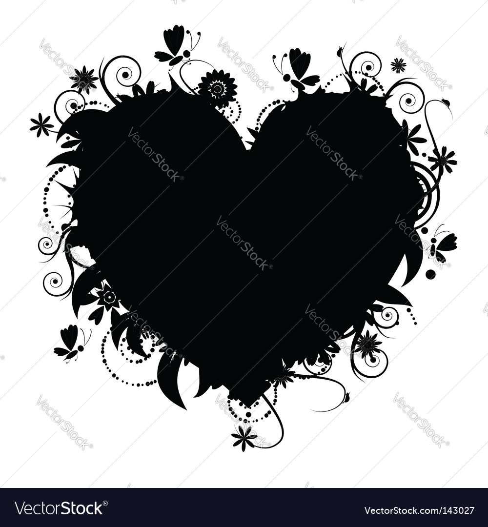 Floral heart vector | Price: 1 Credit (USD $1)