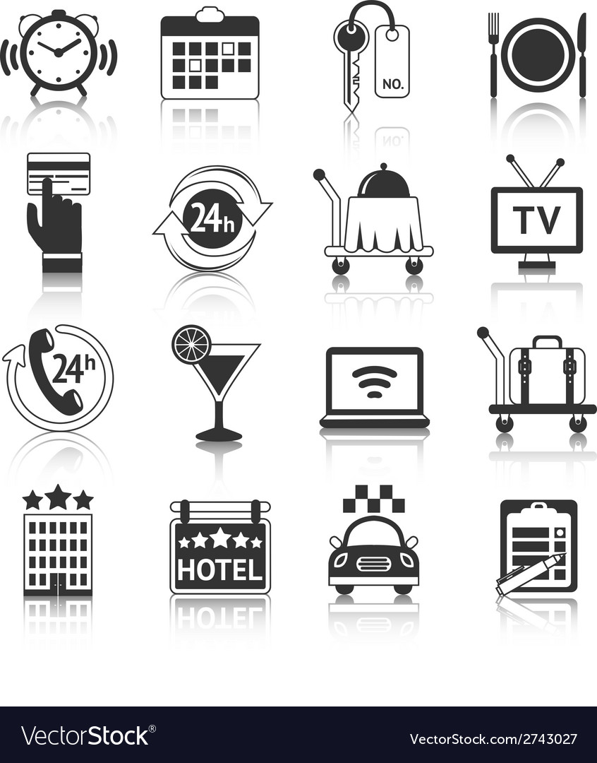 Hotel icons set vector | Price: 1 Credit (USD $1)