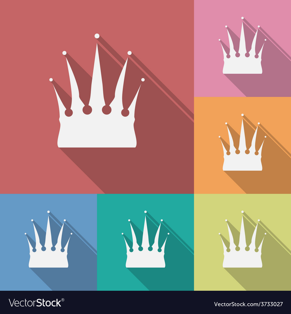 Icon of crown flat style vector | Price: 1 Credit (USD $1)