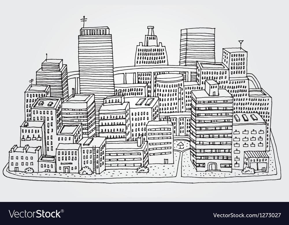 Just a sketch of a big city vector | Price: 1 Credit (USD $1)