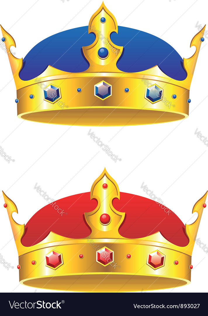 King crown with gems and embellishments vector | Price: 1 Credit (USD $1)