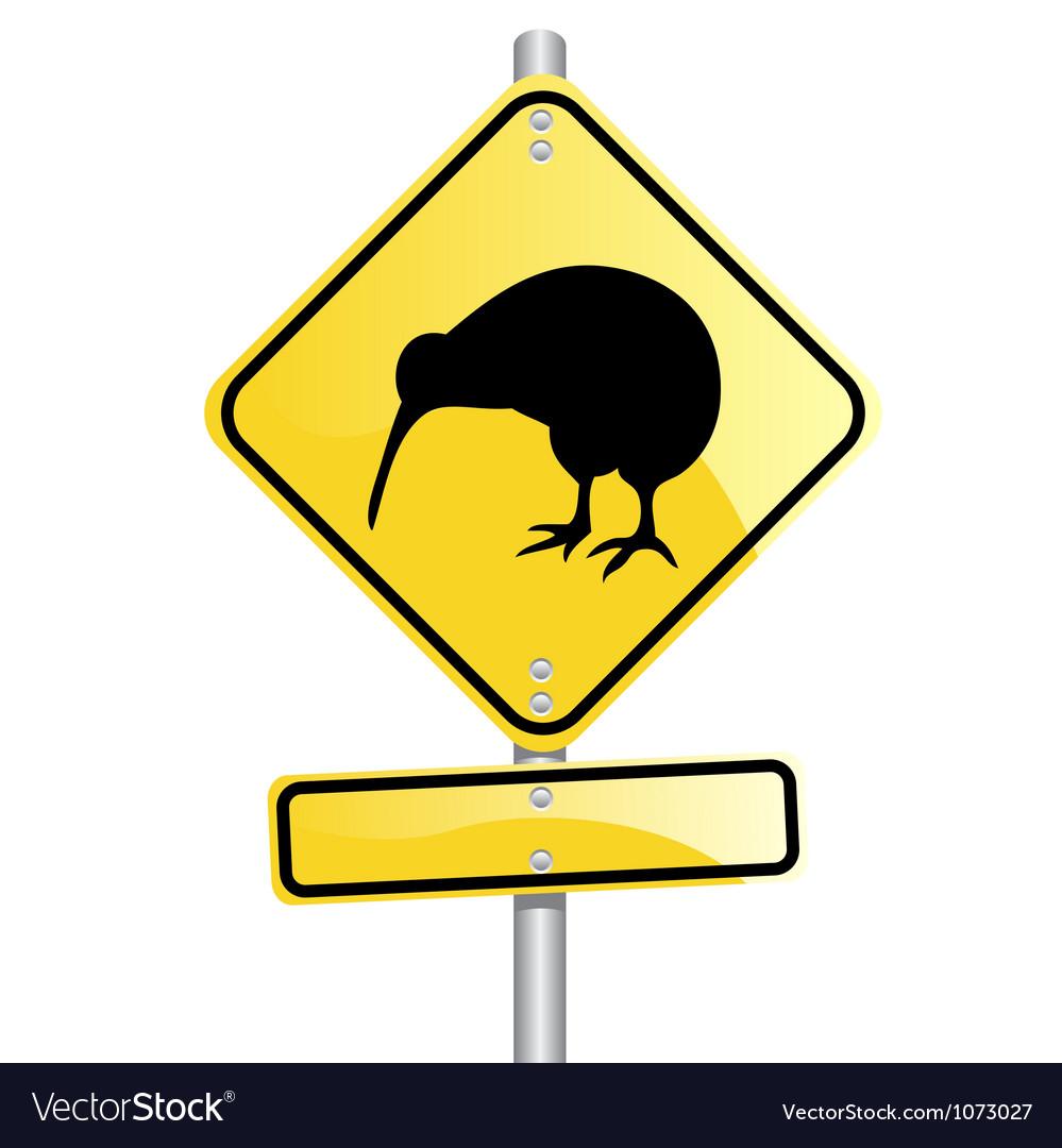 Kiwi road sign vector | Price: 1 Credit (USD $1)