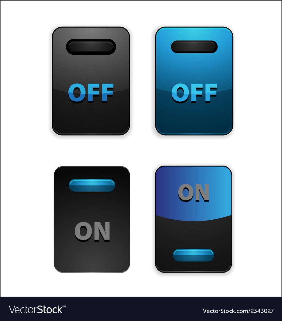 On off switch button vector | Price: 1 Credit (USD $1)